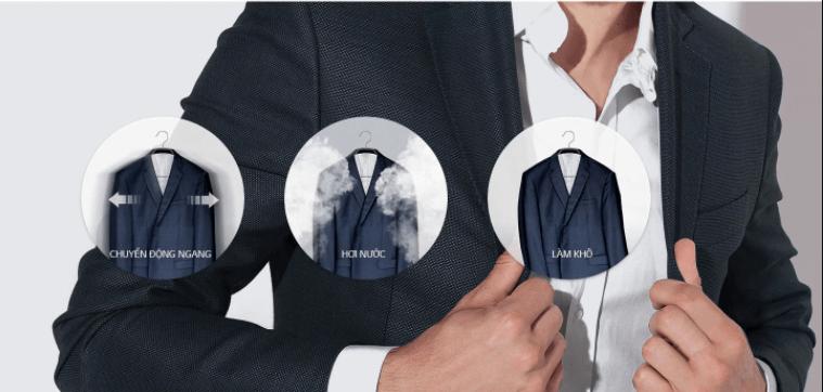 Tủ chăm sóc quần áo thông minh LG S3RF ứng dụng công nghệ TrueSteam