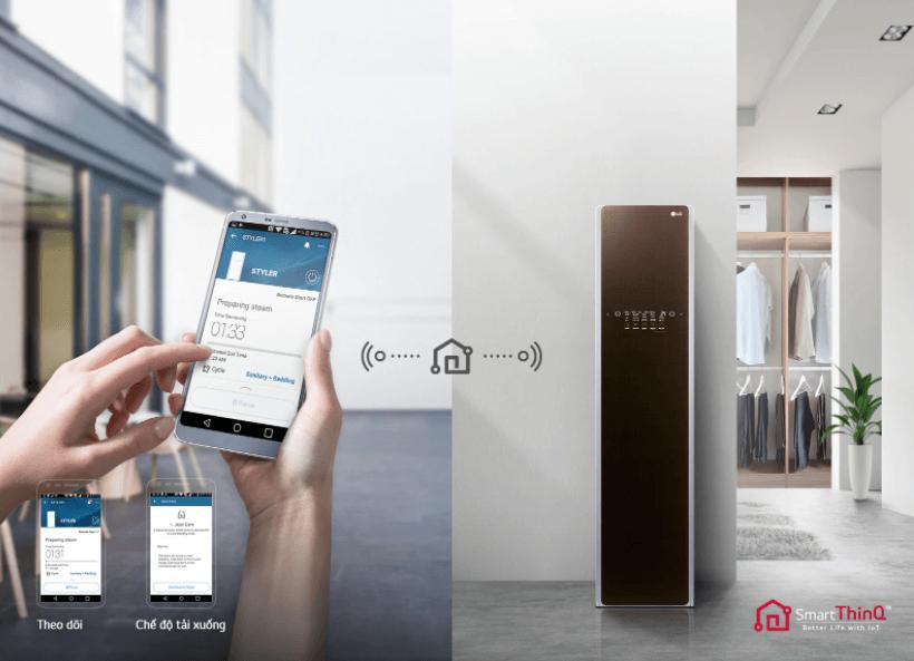 Tủ chăm sóc quần áo thông minh LG S3RF ứng dụng công nghệ SmartThinQ™