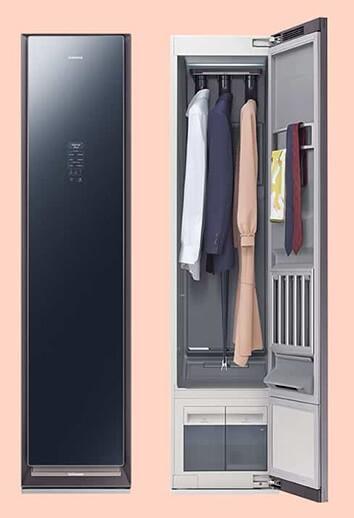 Samsung AirDresser thiết kế phủ gương lồi tạo thành khối không đồng nhất