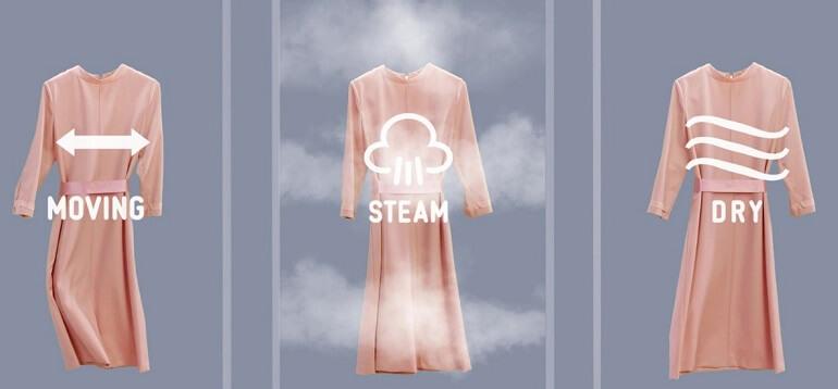 LG Styler sở hữu công nghệ hơi nước TrueSteam độc quyền và chuyển động ngang để làm sạch quần áo