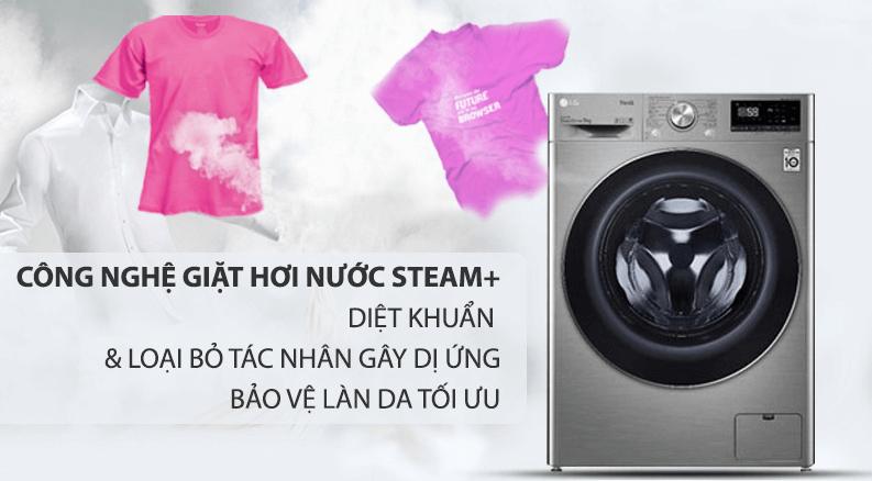 Máy giặt LG FV1409G4V công nghệ giặt hơi nước