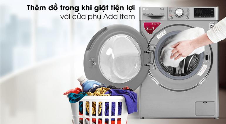 Máy giặt LG FV1409G4V có thể thêm quần áo trong quá trình giặt