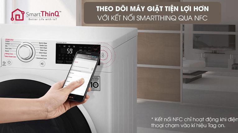 Máy giặt LG FV1409G4V có tính năng điều khiển từ xa