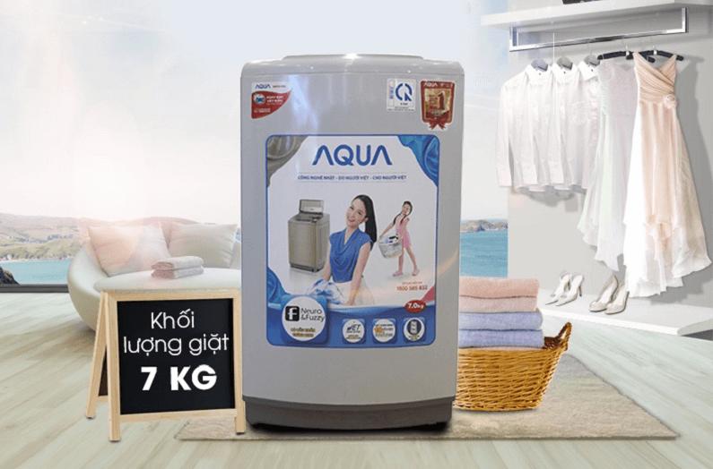 Máy giặt Aqua có khối lượng giặt 7kg