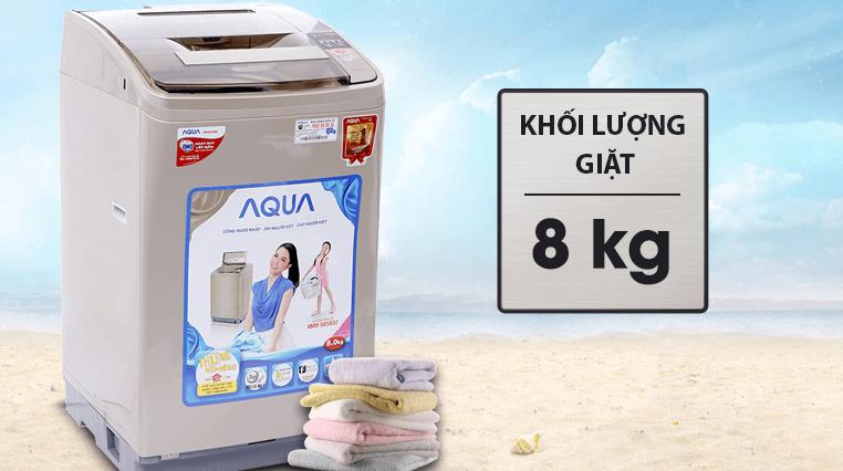 Máy giặt Aqua 8kg có khối lượng giặt 8kg