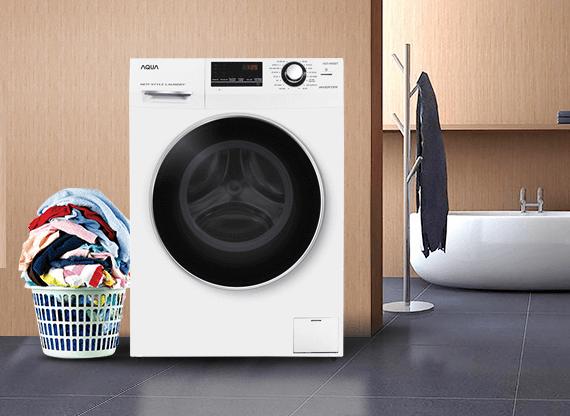 Máy giặt Aqua 8kg cửa ngang
