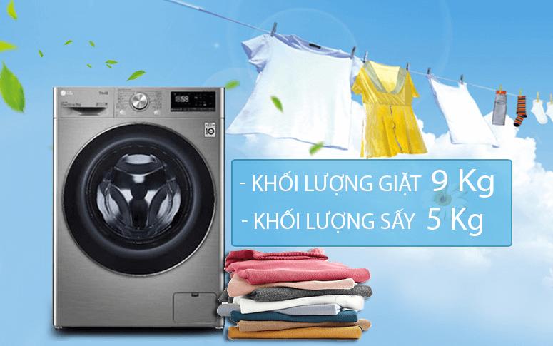 Máy giặt sấy khô không cần phơi LG FV1409G4V