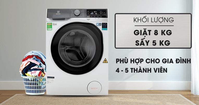 Máy giặt sấy khô không cần phơi Electrolux EWW8023AEWA