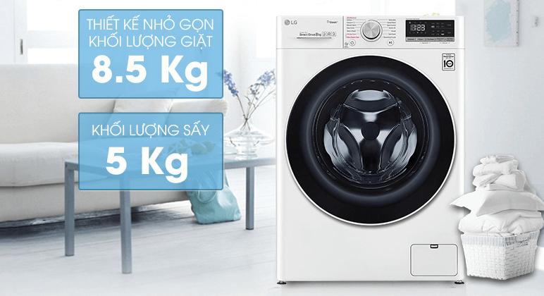Máy giặt sấy khô không cần phơi LG FV1408G4W (New 2020)