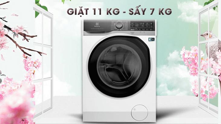 Máy giặt sấy khô không cần phơi Electrolux EWW1141AEWA
