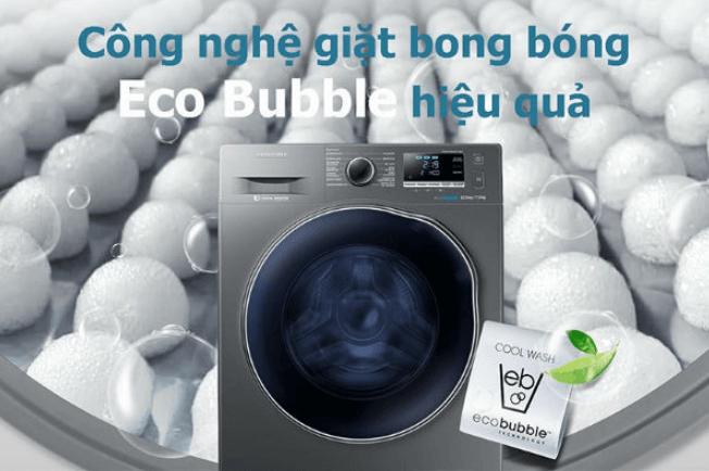 Máy giặt sấy khô không cần phơi Samsung WD95T754DBX/SV (New 2021) ứng dụng công nghệ Eci Bubble