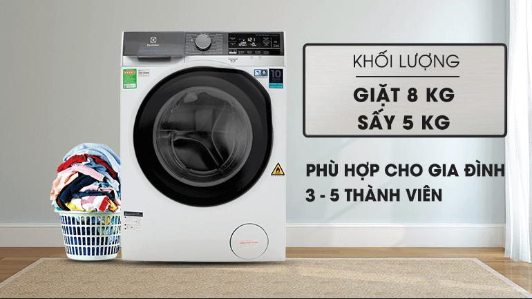 Máy giặt sấy khô không cần phơi Electrolux 8kg/5kg UltimateCare 900 EWW8023AEWA