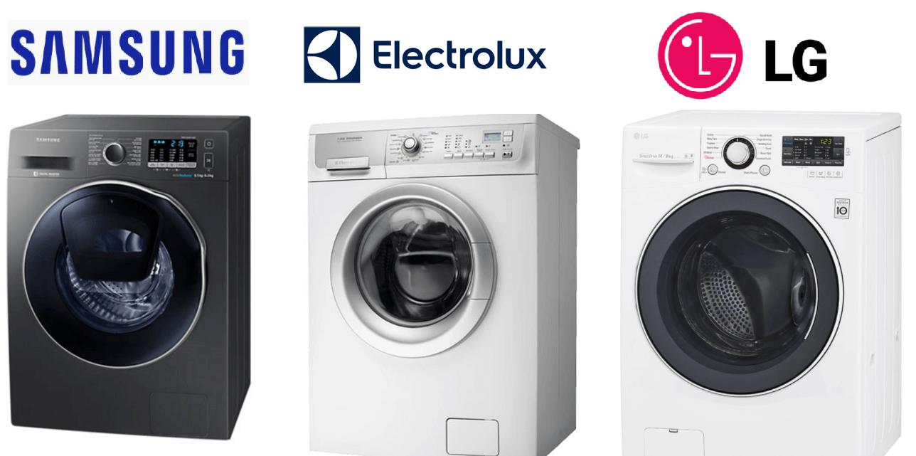 Máy giặt sấy khô loại nào tốt - Electrolux, LG hay Samsung?