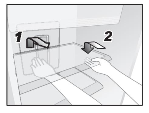 Tháo ngăn lạnh theo 2 bước
