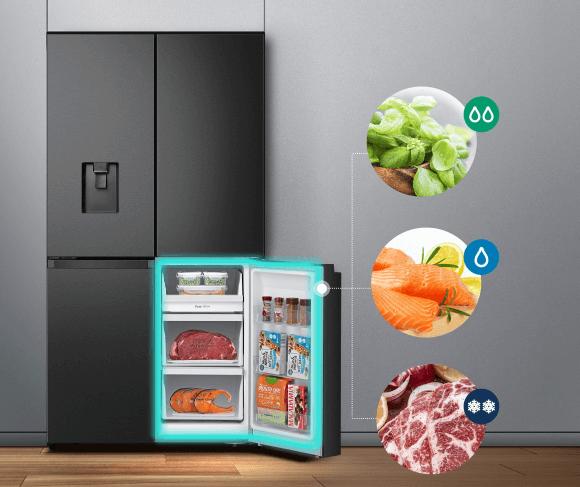 Tủ lạnh thạch sanh Casper có thể chuyển ngăn mát thành ngăn đông