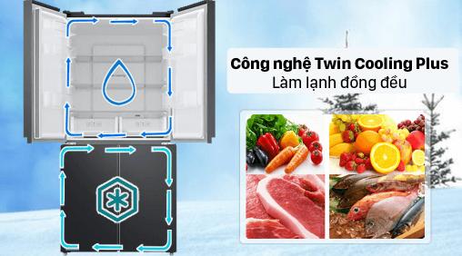Tủ lạnh Samsung Multidoor 488L trang bị công nghệ dàn lạnh độc lập