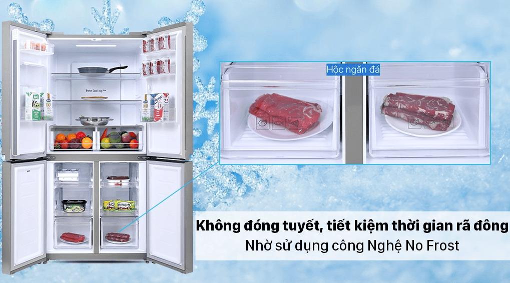 Tủ lạnh Samsung Multidoor 488L còn được tích hợp công nghệ No Frost