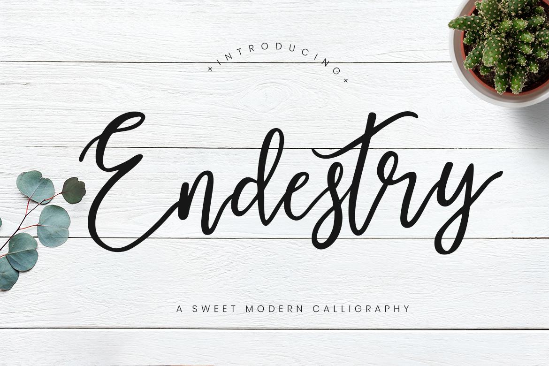 Endestry modern calligraphy font