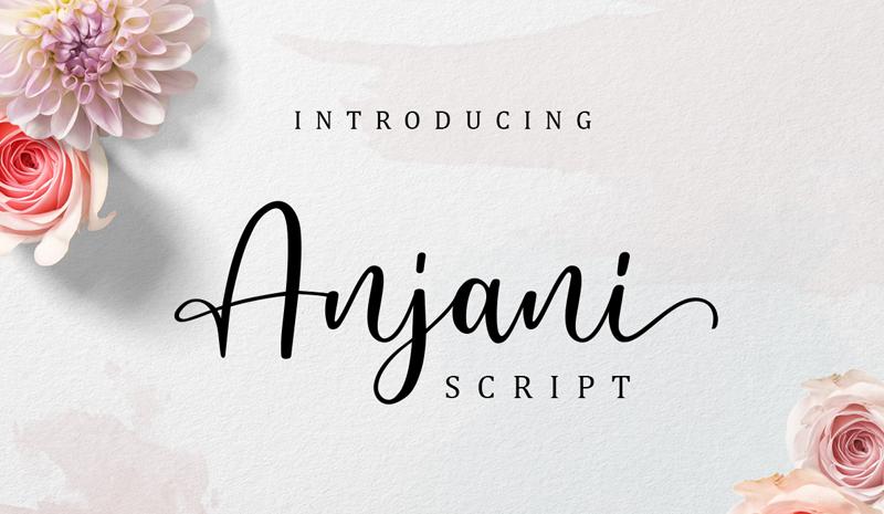 Anjani script modern calligraphy font (Envato Elements)