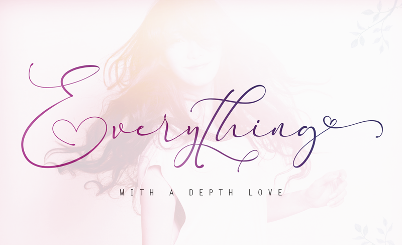 Everything calligraphy font (Envato Elements)