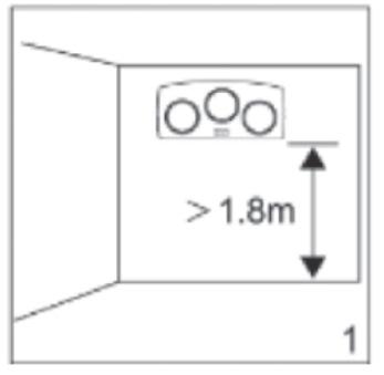 Chiều cao lắp đặt an toàn tối thiểu 1.8m