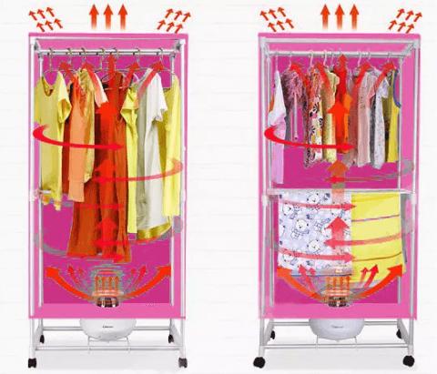 Công nghệ sấy hiện đại giúp quần áo khô nhanh chóng