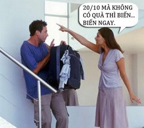 Hình ảnh chế ngày 20/10 hài hước, bá đạo nhất