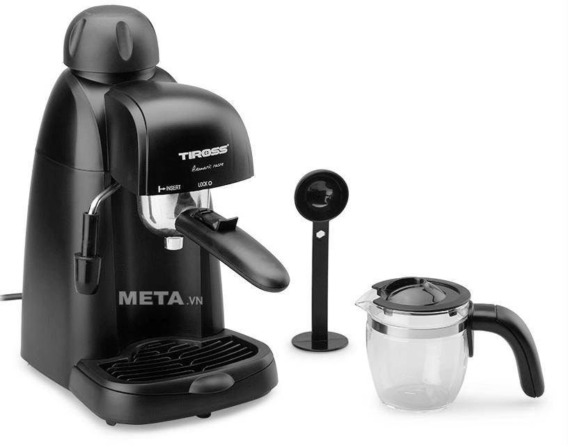 Máy pha cà phê Tiross TS620 sử dụng cà phê bột.