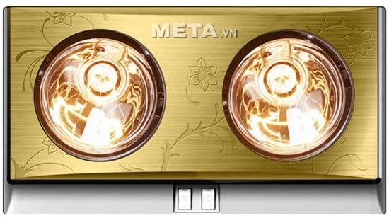 Đèn sưởi nhà tắm Kottmann 2 bóng K2B-G có 2 bóng, hoa văn đẹp giá chưa đến 800.000 VNĐ