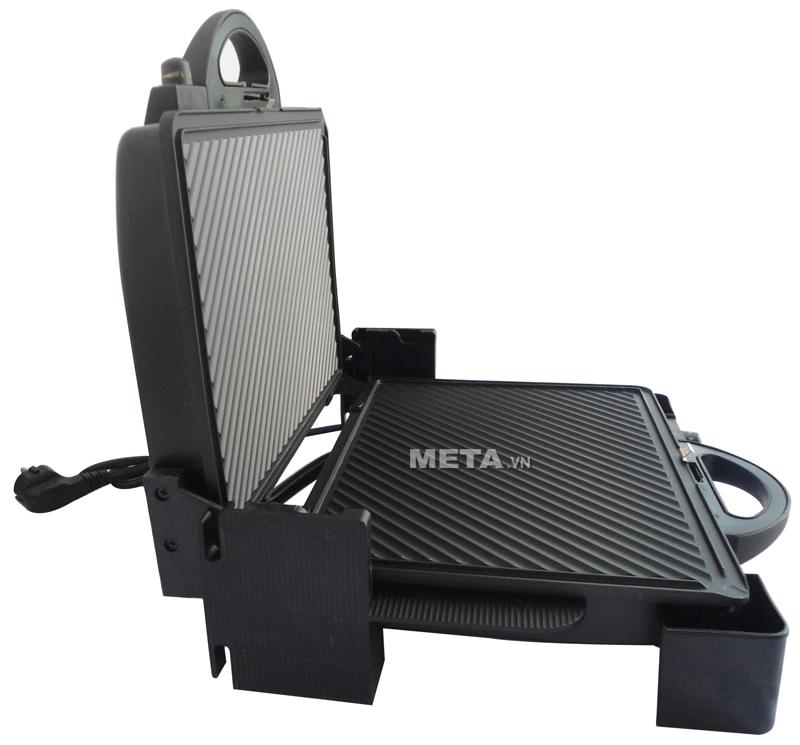 Kẹp nướng điện thịt đa năng Tiross TS-965 có khay nướng có thể tháo rời để dễ vệ sinh