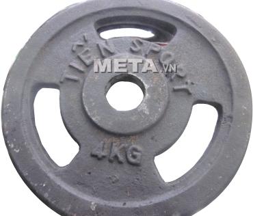 Tạ đĩa lỗ sắt sơn tĩnh điện 4kg