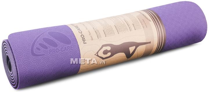 Thảm tập Yoga TPE Pro-01 (Pro John) thiết kế tiện dụng cho người tập