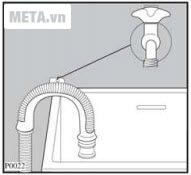 Cách dẫn ống thải nước cho máy giặt