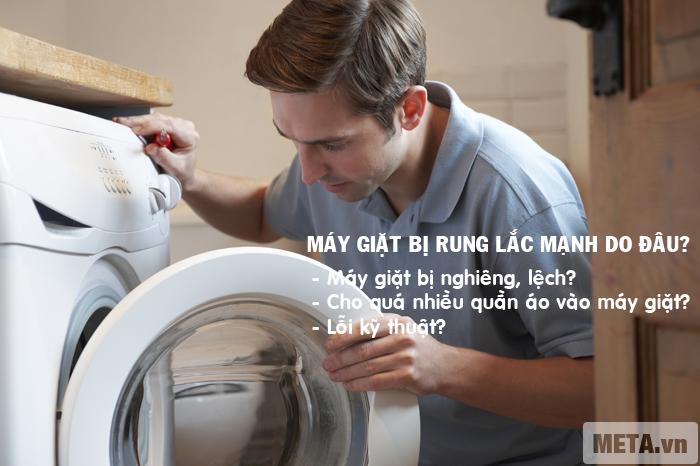 Khắc phục máy giặt bị rung lắc mạnh