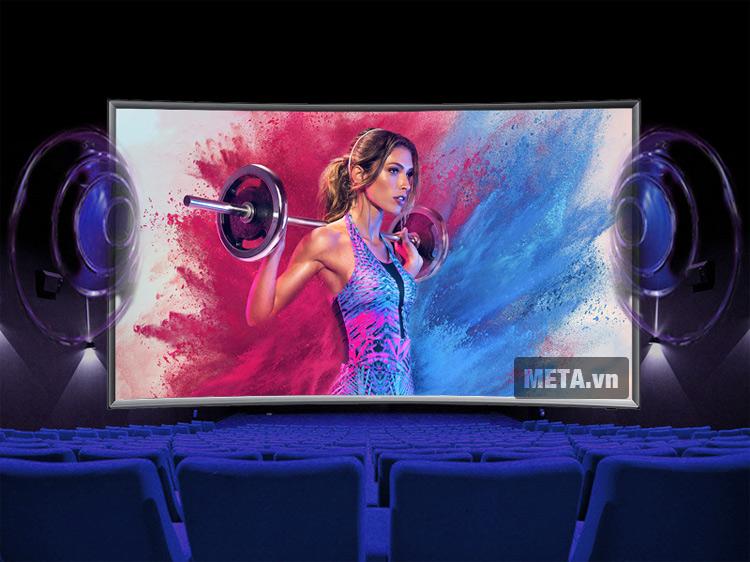 Tivi màn hình cong Samsung 48 inch Full HD UA48J6300 với chất lượng âm thanh chân thật.