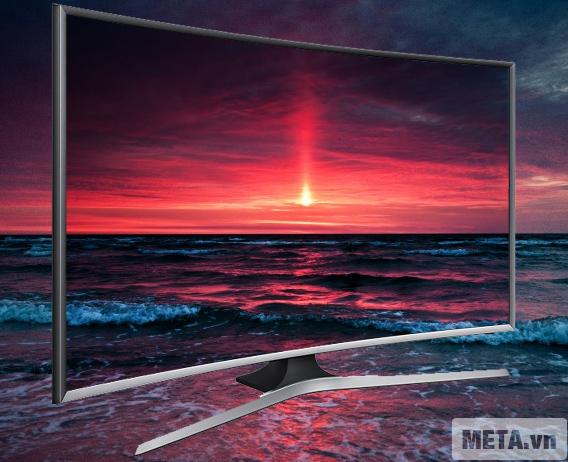 Tivi màn hình cong Samsung 48 inch Full HD UA48J6300 với thiết kế màn hình cong với góc nhìn rộng.