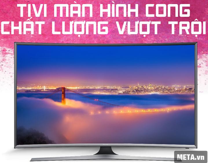 Tivi màn hình cong Samsung 48 inch Full HD UA48J6300 đem đến hình ảnh rõ nét, sống động.