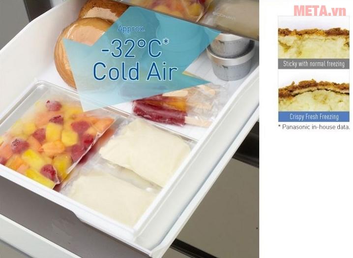 Tủ lạnh side by side Panasonic NR-F610GT-X2 sử dụng công nghệ cấp đông mềm.