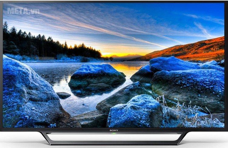 Tivi Sony 48'' 48W650D có thiết kế thanh mảnh, sắc sảo.