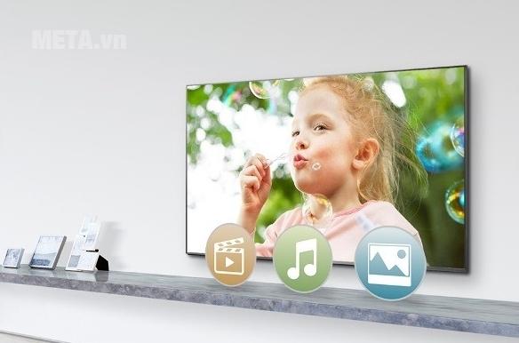 Internet tivi Sony cho phép bạn và gia đình tận hưởng không gian giải trí vô tận.