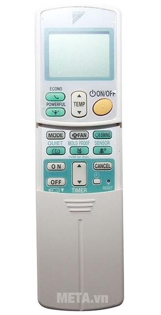 Điều hòa Daikin 1 chiều Inverter 9000BTU FTKS25GVMV/RKS25GVMV với bộ điều khiển dễ dàng điều chỉnh các tính năng của máy.