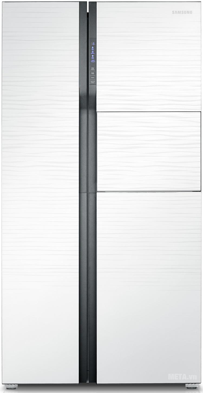 Tủ lạnh side by side 543 lít Samsung RS554NRUA1J với thiết kế hiện đại.