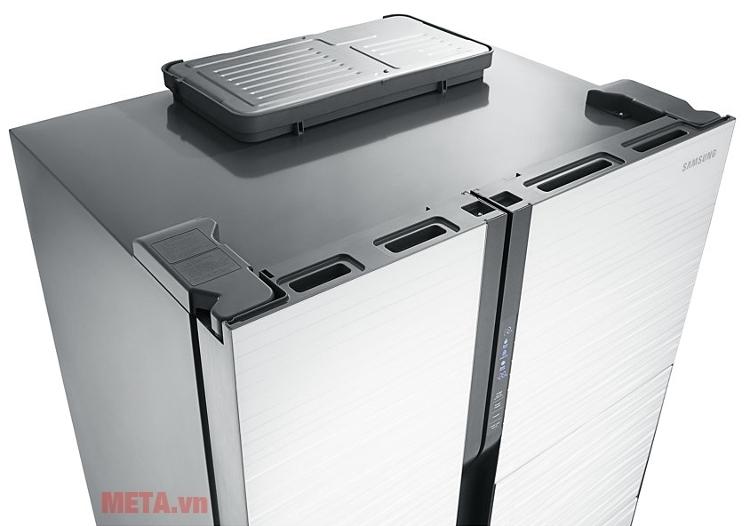 Tủ lạnh side by side 543 lít Samsung RS554NRUA1J giảm độ ồn xuống mức tối đa.