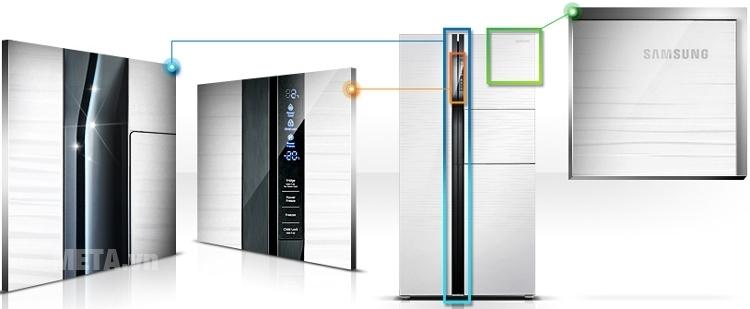 Tủ lạnh side by side 543 lít Samsung RS554NRUA1J tiết kiệm điện năng tối đa cho người dùng.