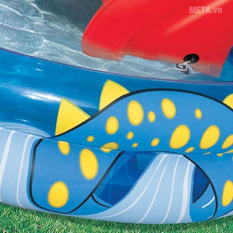Bể phao cầu trượt hình con rắn Bestway 53033 được làm bằng chất liệu nhựa PVC cao cấp.