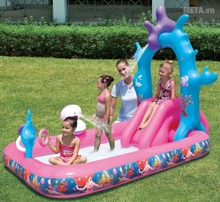 Bể phao liên hoàn cầu trượt hình công chúa Bestway 91051 dành cho trẻ từ 3 tuổi trở lên.