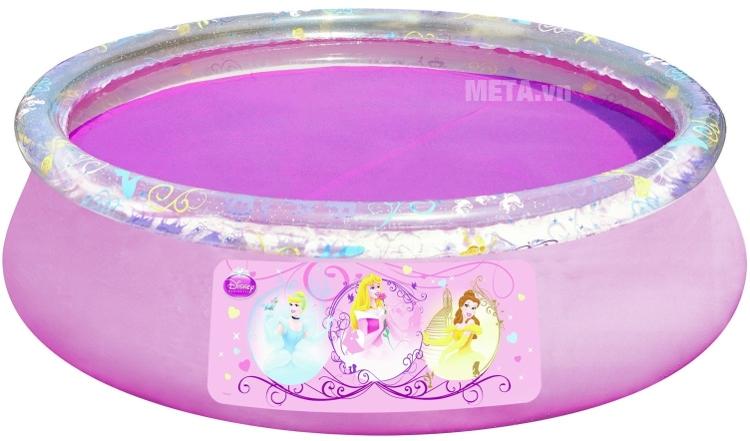 Bể phao tròn hình công chúa Bestway 91052 với thiết kế thành bể dày.