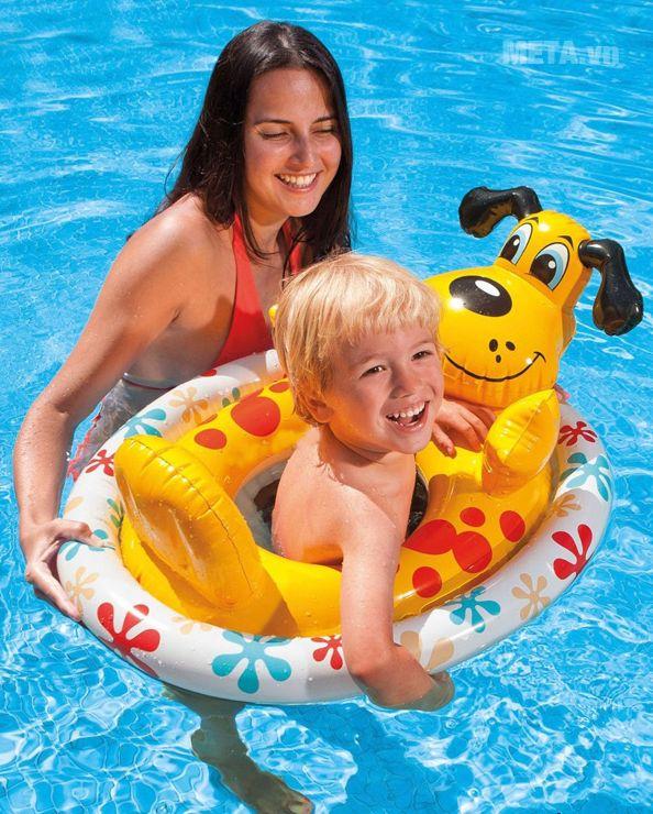 Phao xỏ chân hình thú INTEX 59570 đảm bảo sự an toàn cho bé.