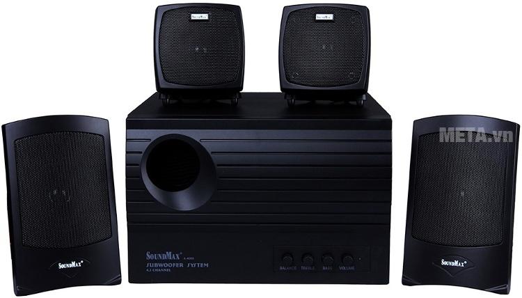 Loa SoundMax A4000 4.1 với thiết kế ấn tượng.