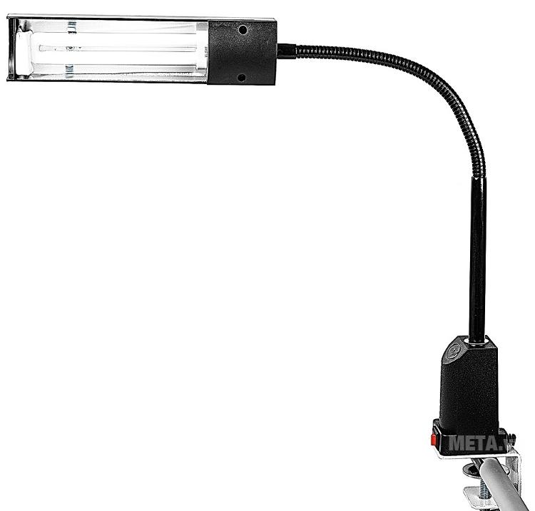 Đèn bàn biến tần kẹp bàn V-light C-FGL 13W với thiết kế màu đen.